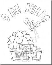 imagenes del 9 de julio para colorear