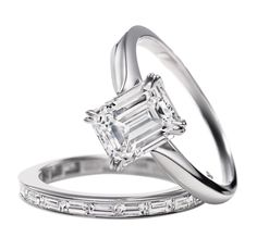 Harry Winston Emerald-Cut Solitaire <3 <3 <3