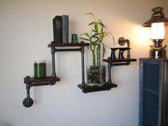 Industrial Plumbing Pipe Shelf Decorations