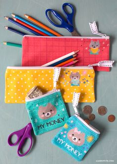 Kids Pencil Pouch and Coin Bag