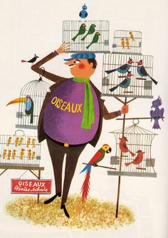 """Oiseaux"" via Illustrated Gents."