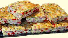 Vaječné rezy so šunkou a červenou paprikou-skvelé na večeru! Vyskúšala som ich raz, keď došla návšteva a odvtedy sú na stole stále – radynadzlato.sk