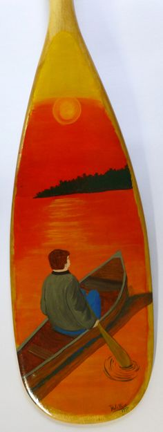 "36"" hand painted canoe paddle Paddles, Canoe, Projects To Try, Old Things, Hand Painted, Painting, Art, Art Background, Painting Art"