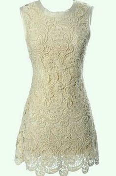 Lace dress, Fashiolista I think this would be a cute non-traditional wedding dress