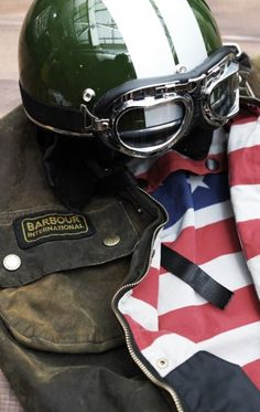 The Barbour Steve McQueen jacket. Perfect with your cafe racer. Cafe Racer Motorcycle, Motorcycle Helmets, Motorcycle Jackets, Women Motorcycle, Motorcycle Style, Steve Mcqueen Jacket, Vintage Helmet, Retro Helmet, Helmet Design