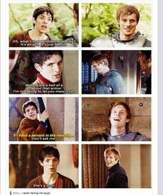 Merlin making him laugh :) Gosh, how I miss them!