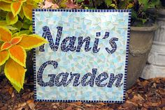 Mosaic Name Sign Garden Decor by GreenStreetMosaics on Etsy, $175.00