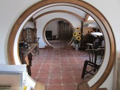 Inside a Hobbit house House Arch Design, Monolithic Dome Homes, Earthship Home, Fairytale House, House Plans And More, Fantasy House, Dome House, Earth Homes, Tiny House Movement