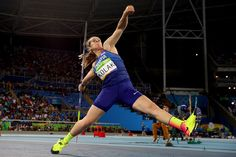 Sara Kolak of Croatia in action on her to winning gold in the Women's Javelin Final on Day 13 of the Rio 2016 Olympic Games at the Olympic Stadium on August 18, 2016 in Rio de Janeiro, Brazil.