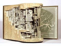 Brian Dettmer's Narrative Sculptures from Old Books | Inhabitat - Sustainable Design Innovation, Eco Architecture, Green Building  http://inhabitat.com/artist-brian-dettmer-carves-old-books-into-intricate-narrative-sculptures/