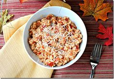 Cheesy red hot rice-  healthy and perfect to pair with skinny enchiladas =-D