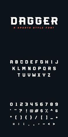 Dagger is an all caps display font that comes in 4 styles: Regular, Italic, Light, Light Italic Free Typography Fonts, Graffiti Lettering Fonts, Handwritten Fonts, Typography Letters, Typography Poster, Graphic Design Fonts, Typography Design, Logo Design, Cool Fonts