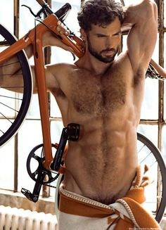 """Photographed by Greg Vaughan, here's Walter S. in """"The Exhibitionist"""" for OUT Magazine."""