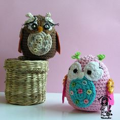 Crochet Pattern  Two Owls by VendulkaM on Etsy, $4.80