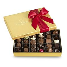 Godiva Chocolatier Red Ribbon Ballotin Valentines Chocolate Gift, 36 Count - http://mygourmetgifts.com/godiva-chocolatier-red-ribbon-ballotin-valentines-chocolate-gift-36-count/