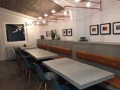 Cazana Beton+ Café bænk og borde
