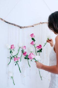 DIY Floral Vase Wall Hanging (Using rose and eucalyptus!)