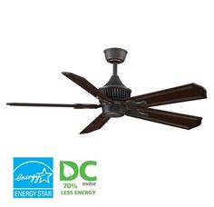 """View the Fanimation MAD3255-B5131DC Louvre 52"""" 5 Blade DC Ceiling Fan - Dark Cherry Blades and Remote Control Included at LightingDirect.com."""