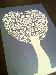 Tree papercut