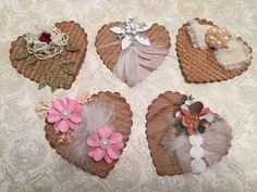 Hearts, Victorian Shabby, Embellishment, Scrapbooking, Cards, Tags, Decoration, Holiday, Package Toppers, Gift Wrap, Shabby Chic, Valentines