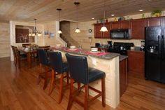 Smoky's Summit, 4 Bedroom, Vacation Rental, Luxury, Great Smoky Mountains, Parkside Resort, Kitchen, Breakfast Bar, Dining Area
