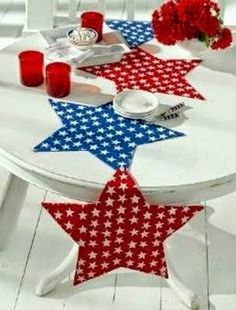 Star Table Runner and Place Mats by Everyday Art