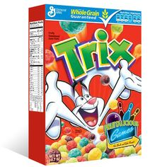 5 New Cereal Printable Coupons - Trix, Cheerios, Cocoa Puffs and More! New Cereal, Trix Cereal, Kids Cereal, Crunch Cereal, Cereal Boxes, Free Printable Grocery Coupons, General Mills Cereal, Types Of Cereal, Sweets