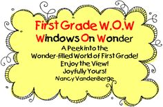 First Grade Wow Blog - Includes Many Freebies <3