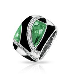 Tango emerald green ring