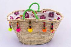 Handmade Woven Palm Leaf Bag/Summer Straw Capazo por Spiralspiral