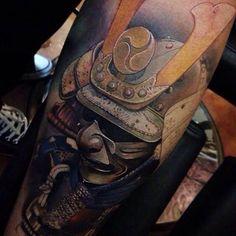Kabuto Samurai Tattoo by Axel López.