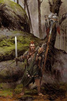 Wolf Clan Leader. Blood Rage artwork by Adrian Smith.