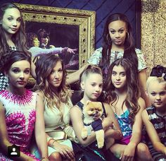 The Dance Moms girls with Jiff at the Reality TV Awards 2015!