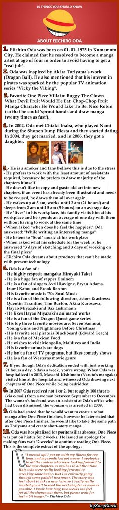 I love One Piece, and after reading this facts I love it more! And I am sure you will love it more too
