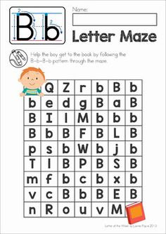 Letter Mazes: Upper and Lower case Letter Recognition