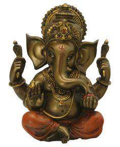 Brilliant bronze finish Ganesh statue, great for new beginnings! Available at GaneshMall.com