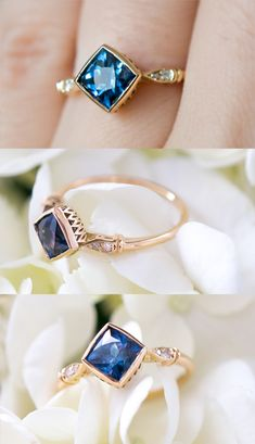 This is one of our most special rings. A combination of Art Deco style, minimalist geometry, and decorative open-work, it beautifully accentuates this special Sapphire. A true American Treasure, this deep blue Sapphire hails from Montana and was later precision cut in Utah.