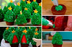 Réalisez de délicieux cupcakes sapin de Noël
