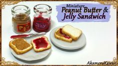 Hi guys! It felt like a long time since I last made some miniature food, so today we're making these cute, miniature Peanut butter and Jelly sandwiches ^^ I ...