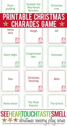Enjoy family time together this Christmas with a game of Christmas charades! These 66 printable game cards make it super easy to play.