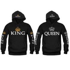 Men Women's Sweatshirt  Couples Hoodies King Queen //Price: $31.99 & FREE Shipping //     #hashtag2