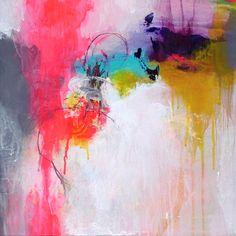 Pintura abstrata original, arte moderna, pintura acrílica, pintura, pintura turquesa neon magenta, pintura da lona, pintura da arte