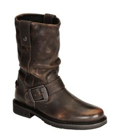 Harley Davidson Darice Leather Motorcycle Boots - I want them.
