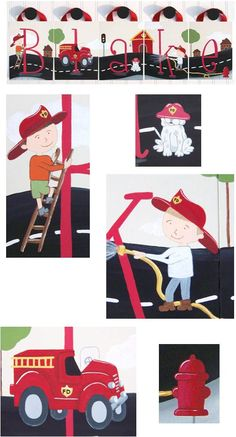 Fire Truck / FireFighter Dalmation Custom Wall Letters