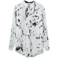Choies White Tie Dye Roll Up Sleeve Loose Shirt (€14) ❤ liked on Polyvore featuring tops, blouses, shirts, white, loose blouse, tie die shirts, cut loose shirt, tye dye shirts and loose white shirt