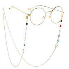 Chic Colorful Beaded Metal Eyeglass Chain