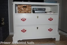 Primer and Painted Nails dresser after