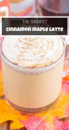 This Cinnamon Maple Latte is filled with cozy fall flavors and is perfect to enjoy during the season. Packed with hints of maple, cinnamon and nutmeg, this homemade latte was made for coffee lovers everywhere! #latte #cinnamonlatte #maplelatte #cinnamonmaplelatte #cinnamoncoffee Frozen Drink Recipes, Frozen Cocktails, Sangria Recipes, Beer Recipes, Margarita Recipes, Punch Recipes, Coffee Recipes, Easy Recipes, Superfood Recipes