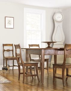 Dining Room in the Storybook Farmhouse ~~The dining table was crafted from old floorboards. Photo: Country Living