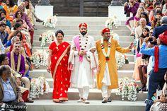 Indian groom's entrance to wedding ceremony http://www.maharaniweddings.com/gallery/photo/116541